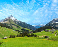 Alpine view Vorarlberg,Austria Royalty Free Stock Photos