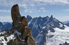 Alpine views. Views of the Mont Blanc in the French Alps Stock Photography
