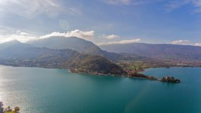 Alpine Views over Lake Annecy in the French Alps. Royalty Free Stock Photography