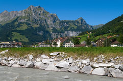 Alpine village stock images