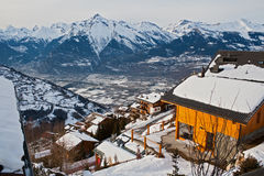 The Alpine village Royalty Free Stock Photos