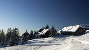 alpine village royalty free stock photos