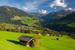 The alpine village of Alpbach and the Alpbachtal, Austria. Royalty Free Stock Photo