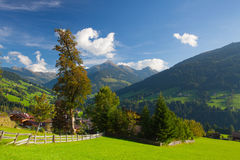 The alpine village of Alpbach and the Alpbachtal, Austria. Royalty Free Stock Images