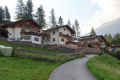 Alpine village Bichl (muncipal Pragraten) in the mountains, Austria Royalty Free Stock Photo