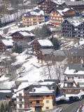 Alpine village and chalets Royalty Free Stock Photo