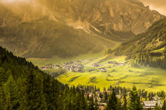 Alpine village in Corvara, Dolomites Royalty Free Stock Photography