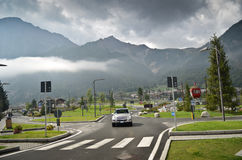 Alpine village - Courmayeur Stock Photo