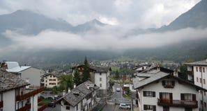 Alpine village - Courmayeur Stock Photography