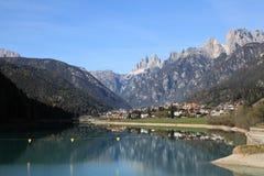 Alpine village at Dolomites Stock Photos