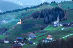 Alpine village in Dolomites mountains Royalty Free Stock Photography