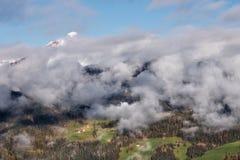 Alpine village in Dolomites mountains Royalty Free Stock Photos