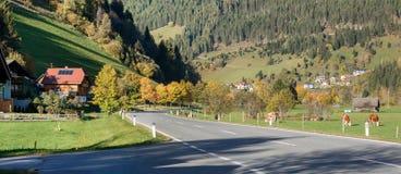 Alpine village Hinterkoflach, Austria. Alpine village Hinterkoflach in the municipality of Reichenau, Feldkirchen District, State of Carinthia, Austria Royalty Free Stock Images