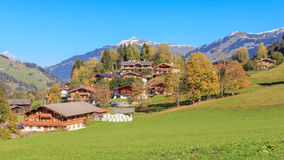 Alpine village Jochberg. View on the scenic village Jochberg in Tyrol Royalty Free Stock Photos