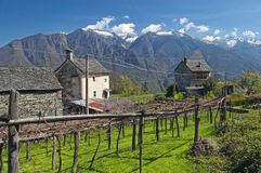 Alpine village landscape in spring Royalty Free Stock Photography