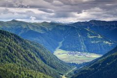 Alpine village of Obertilliach in Lesachtal East Tyrol Austria royalty free stock images