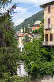Alpine village in South Tyrol, Italy. Part view of houses in alpine village in South Tyrol, Italy stock image