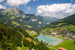 Alpine village Swiss Stock Photo