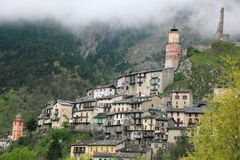 Alpine village Tende Stock Photography