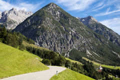 Alpine village in the valley, Gramais, Austrian Royalty Free Stock Images