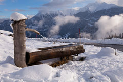 Alpine Water Trough Royalty Free Stock Images
