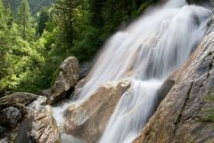 Alpine Waterfall Stock Photos
