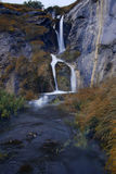 Alpine waterfall, France Royalty Free Stock Photography