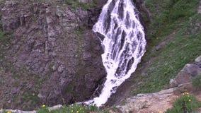 Alpine Waterfall stock video
