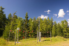 Alpine weather station Stock Photos