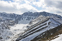 Alpine winter glacial valley Stock Photography