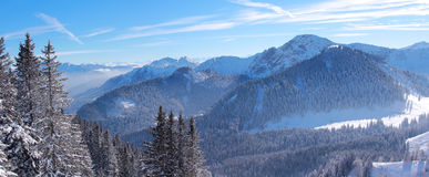 Alpine winter landscape bavaria Stock Images