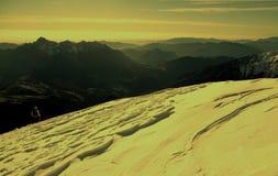 Alpine winter landscape at sunrise Royalty Free Stock Photo