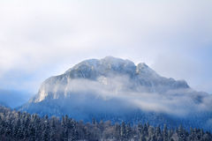 Alpine winter landscape in Transylvanian Alps Stock Photo