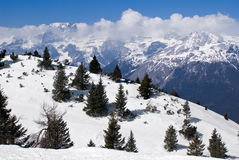 Alpine winter landscape Royalty Free Stock Image