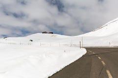 Alpine winter road Stock Photo