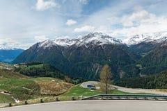 Alpine winter road Royalty Free Stock Image