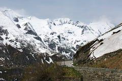 Alpine winter road Royalty Free Stock Photos