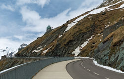 Alpine winter road Stock Photography