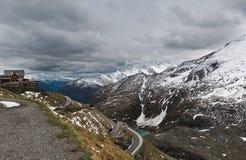 Alpine winter road Royalty Free Stock Photography