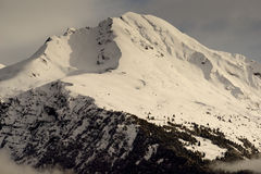 Alpine winter scenery Royalty Free Stock Image