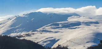 Free Alpine Winter Scenery, With Fresh Snow And Mist, On A Bright Day Stock Photo - 115019510