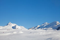 Alpine Winter Strolling Stock Photos