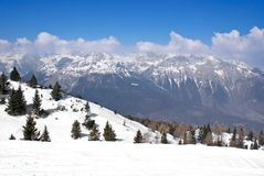 Alpine Winterlandschaft lizenzfreies stockfoto