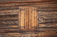 Alpine wooden window Royalty Free Stock Photography