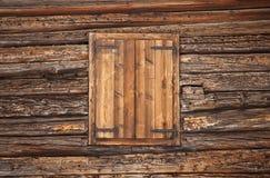 Alpine wooden window royalty free stock photography