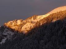 Alpineglow di primo mattino Fotografia Stock