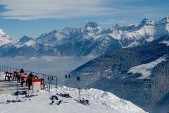 Alpiner Balkon Stockfotografie