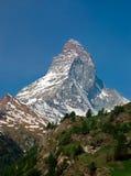 Alpiner Berg Matterhorn Zermatt stockfotos