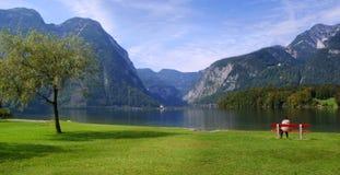 Alpiner See, Österreich lizenzfreie stockfotografie