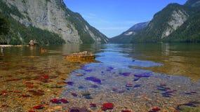 Alpiner See, Österreich stockfoto